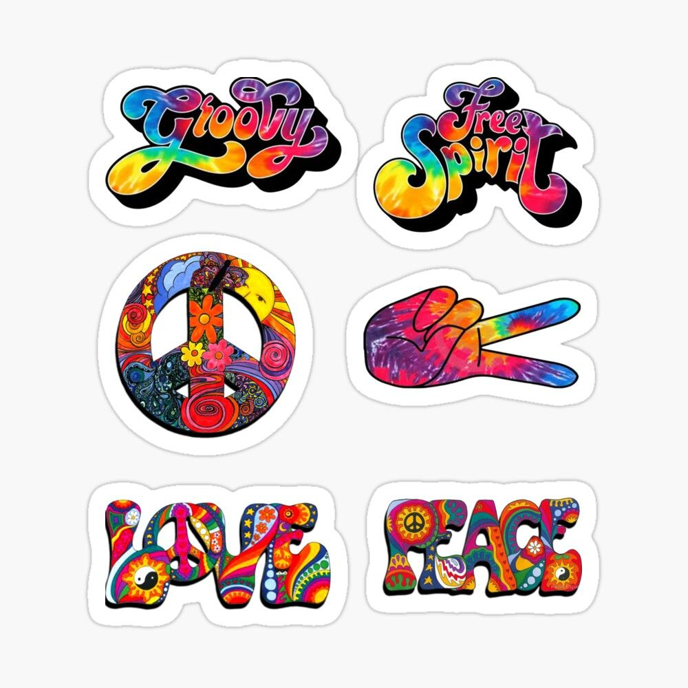 Trippy Hippie Sticker By Vishal Siewdass Hippie Sticker Cute Stickers Stickers [ 1000 x 1000 Pixel ]