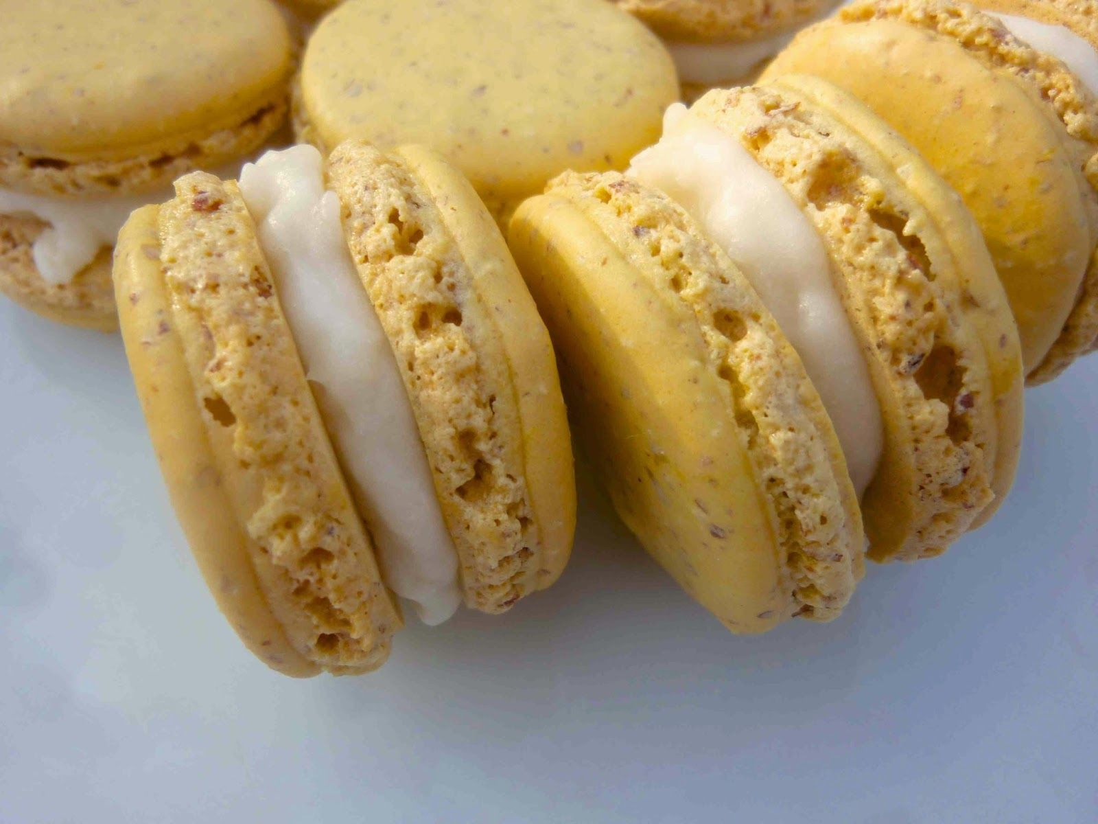 Diary of a Mad Hausfrau: Macaron Monday: Lemon French Macarons with Coconut Filling