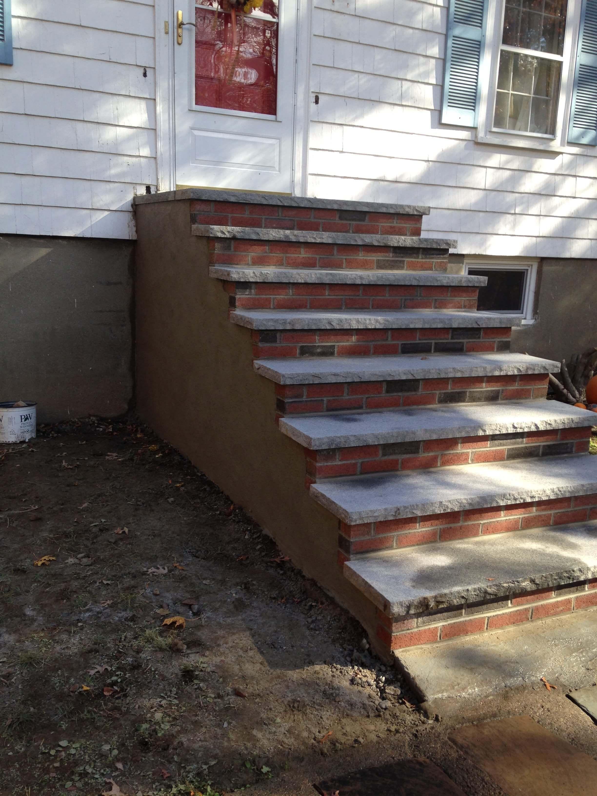 Brick Block Stone Staircases Masonry Contractor Norwood Ma Deluca Masonry Construction Brick Steps Staircase Flagstone Steps