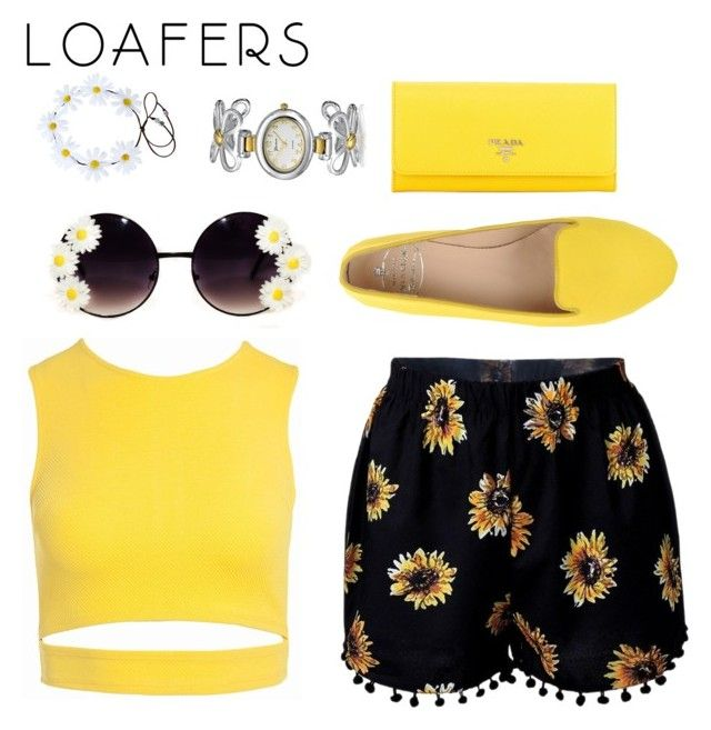 """""""🌼"""" by jazzminmillwood on Polyvore featuring Sans Souci, SANTA CLARA Milano, Prada and Bling Jewelry"""