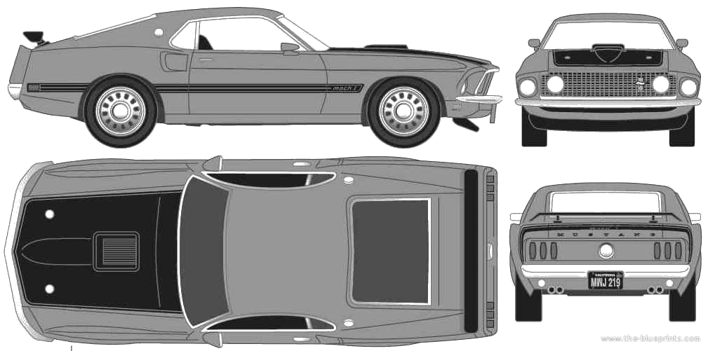 1969 Ford Mustang Blueprints Ford Mustang Mustang Ford Mustang Fastback