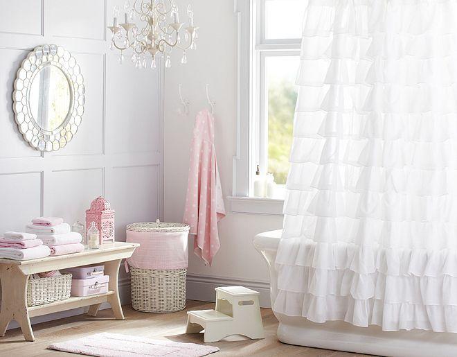Pottery Barn Kids Ruffle Shower Curtain