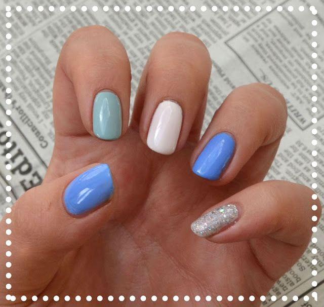 Blue White Summer Nails White Summer Nails Summer Nails Nails