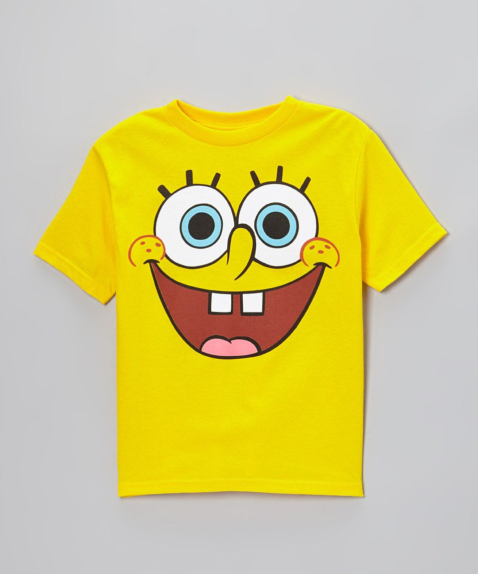 b1d69c8ac Love this Yellow SpongeBob Face Tee - Toddler & Boys by on #zulily!  #zulilyfinds