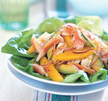 Crab, Mango, and Avocado Salad with Citrus Dressing Recipe  at Epicurious.com