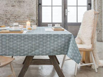 Nappe rectangulaire coton/polyester Teflon antitache triangle scandinave FIKA