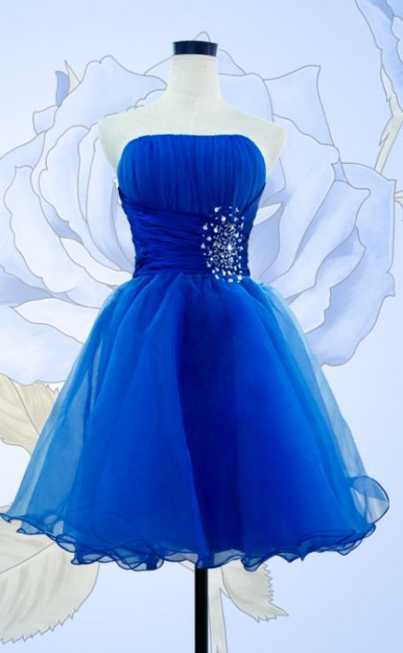 Beaded/Beading Prom Dresses, Royal Blue A-line/Princess Homecoming ...
