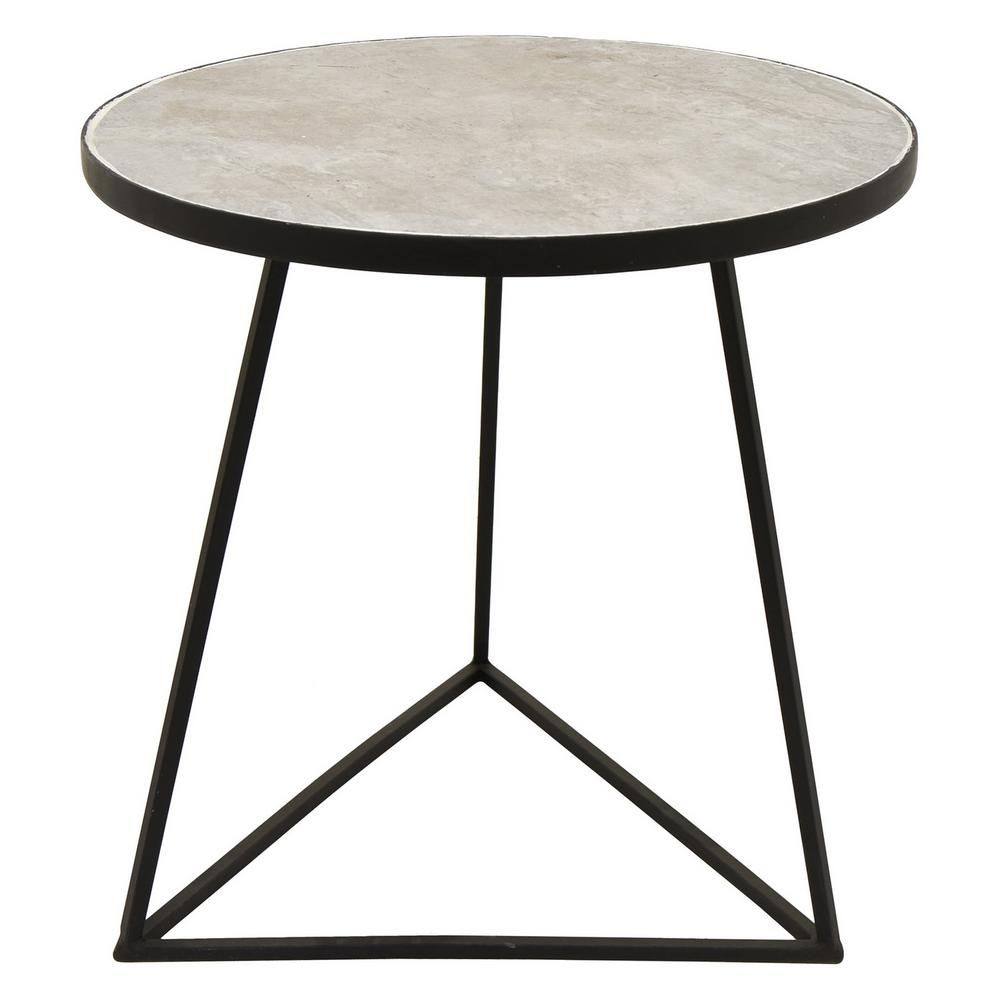 Three Hands 17 In X 17 In Black Metal Side Table Metal Side Table Black Side Table Metal End Tables
