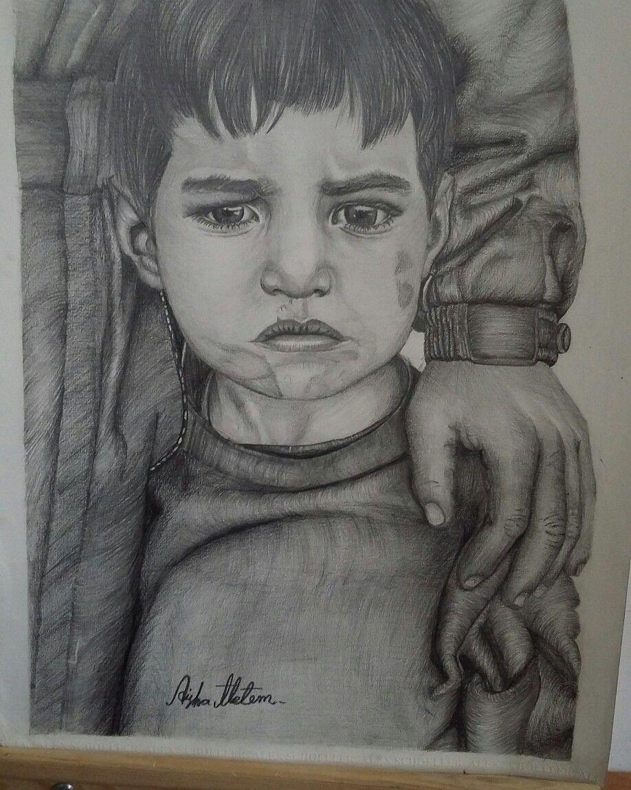 قلبي حزين كطفل تهجر من بيته واجبر على ترك احبائه خلفة My Drawings Portrait Tattoo Art