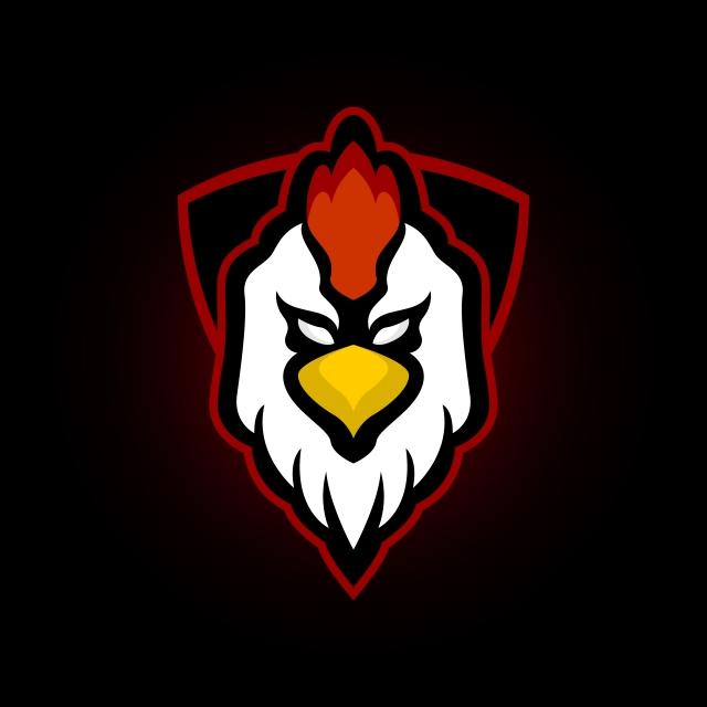 Chicken Rooster Head Mascot Logo Icon Vector Graphic Ikon Ayam Desain Logo