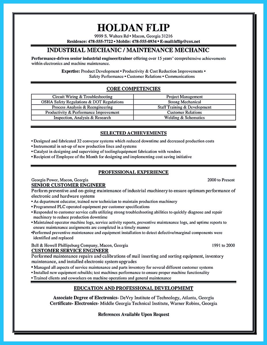 To write a solid automotive resume requires you some