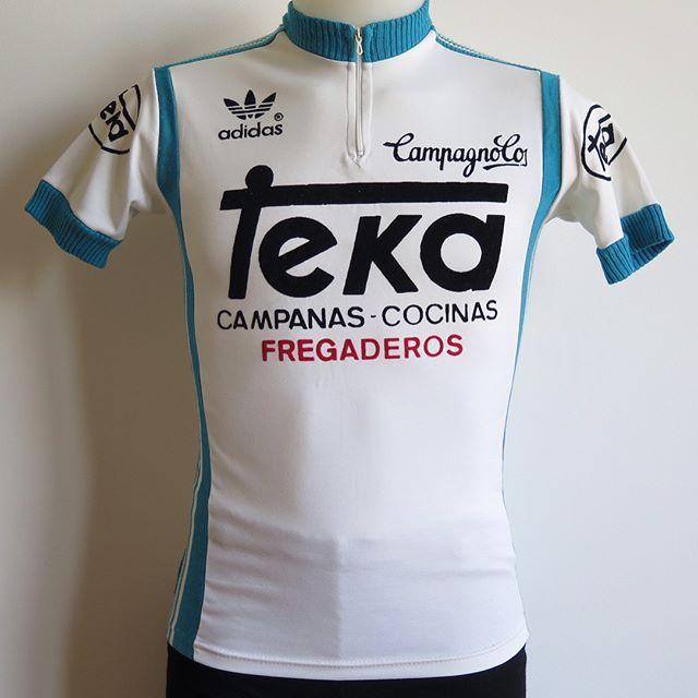 Retro Team Teka Long Sleeve Vintage Cycling Jersey