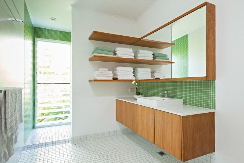 Badezimmer Grün Beige : Puristisches Badezimmer mit ...