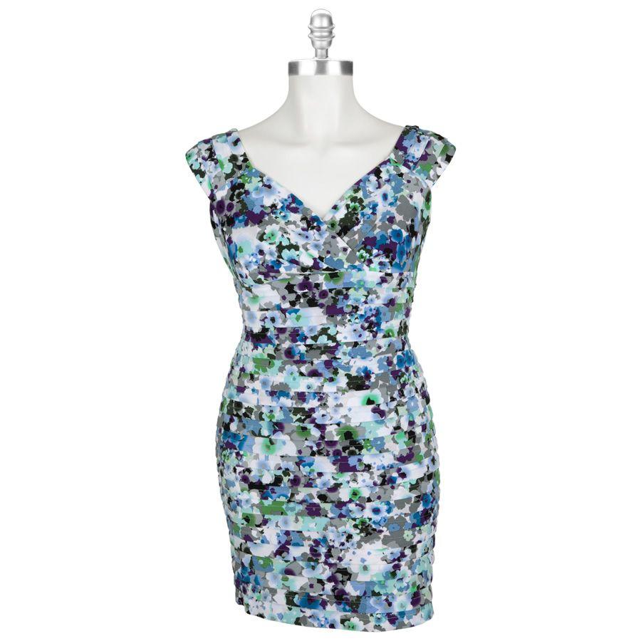 London Times Plus Size Floral Print Dress With Shutter Pleats Vonmaur Floral Print Dress Fashion Dresses [ 900 x 900 Pixel ]