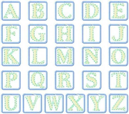 427 Baby Blocks Applique Font | Baby blocks, Applique ...