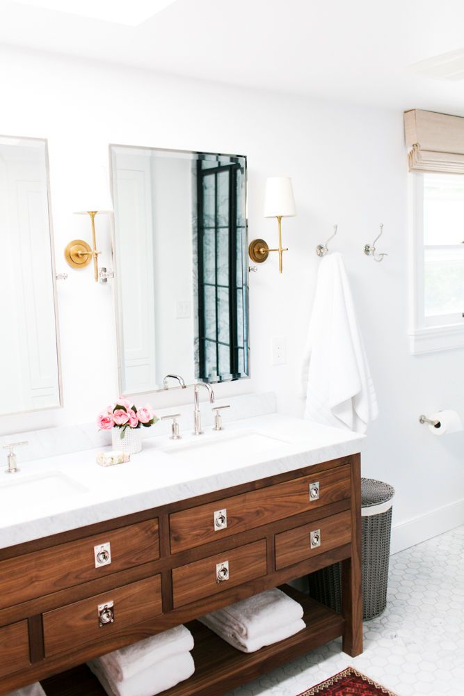 Inspiring Tile Wallpaper And Hues Of Blue Bathroom Inspiration