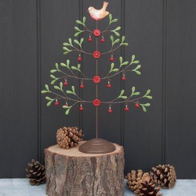 Mistletoe Christmas Tree With Robin   dotcomgiftshop