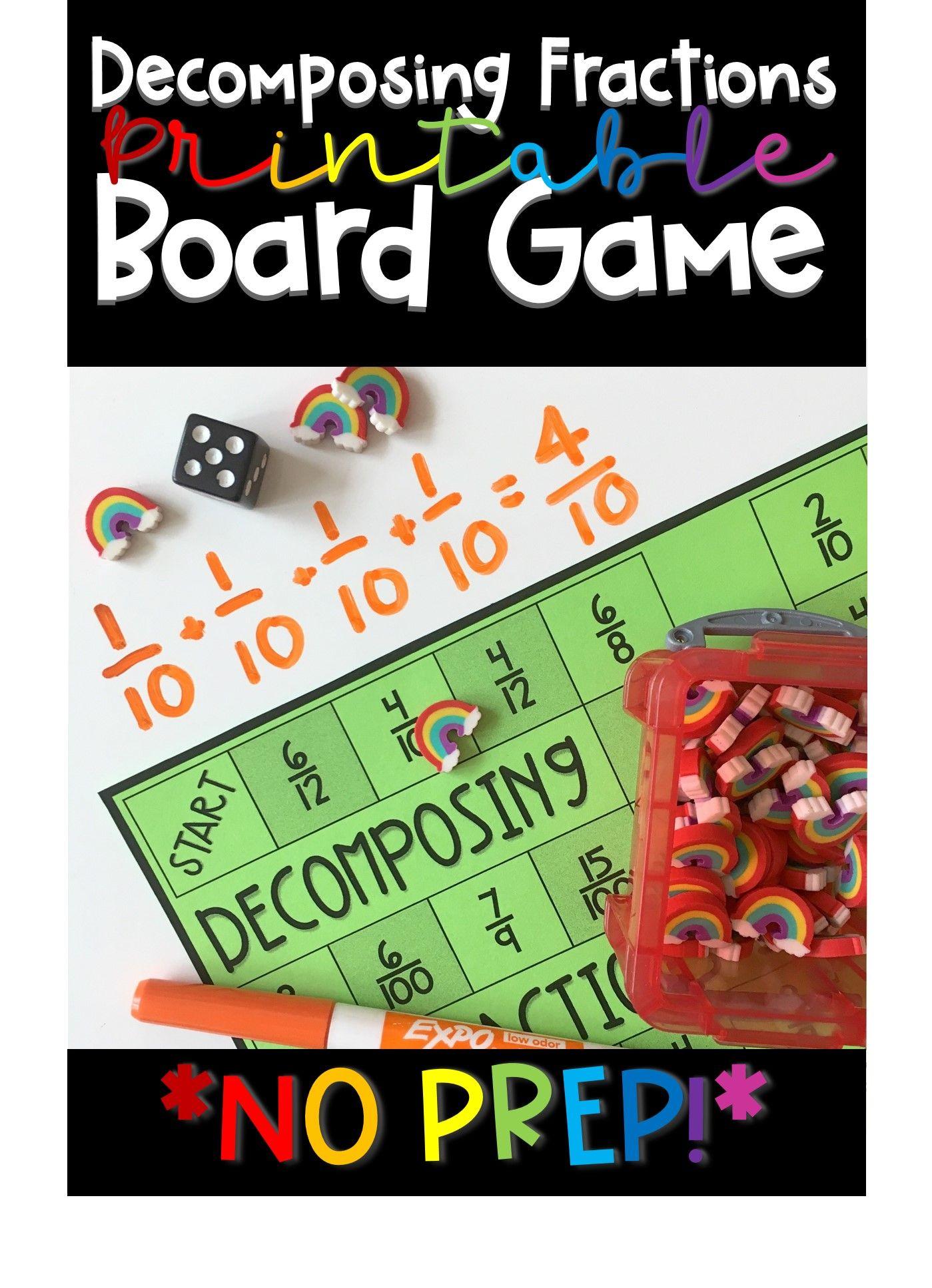Fractions board game fractions fraction