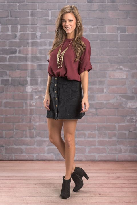"""""""The Best Of Me Skirt, Black"""" You do your best when you feel good and look good! This skirt checks off both of those and more to give you your best self! #newarrivals #shopthemint"""