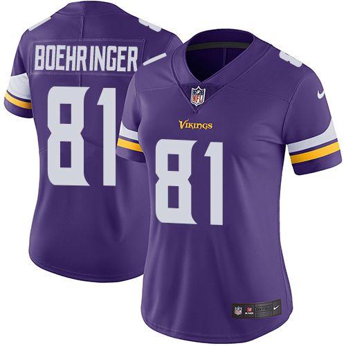 $24.99 Women's Nike Minnesota Vikings #81 Moritz Boehringer Purple ...