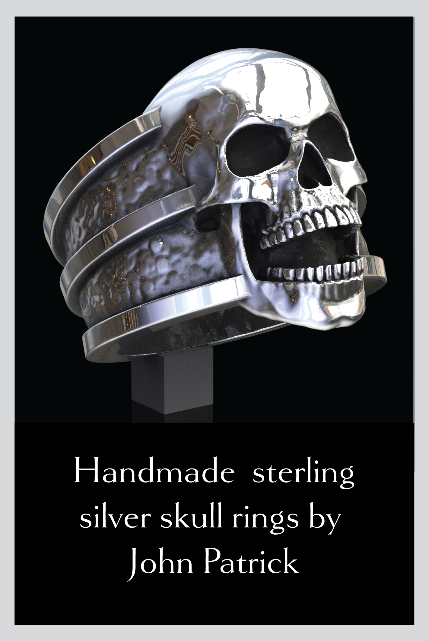 Skull Rings Handmade Original Sterling