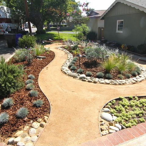 Grassless Front Yard Landscaping Design Landscaping With Rocks Backyard Landscaping Designs