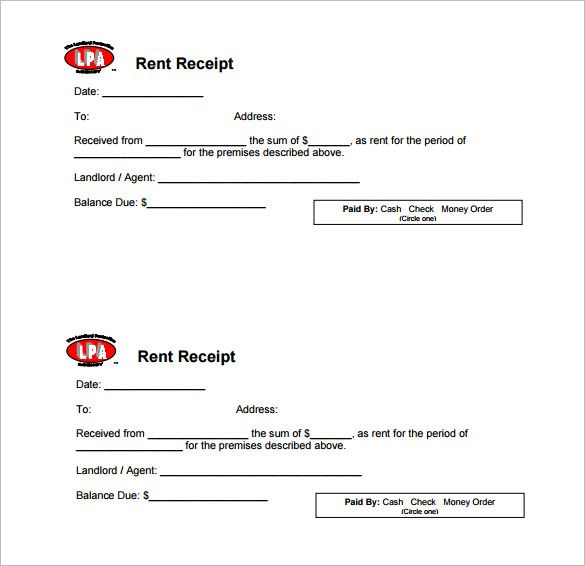 Rental Payment Receipt Template Receipt Template Doc For Word