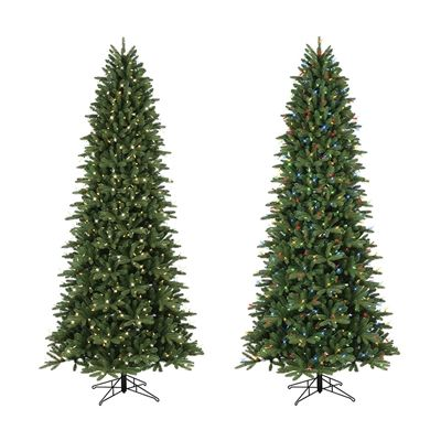 GE 9-ft Pre-Lit Frasier Fir Slim Artificial Christmas Tree - 01629LC - GE 9-ft Pre-Lit Frasier Fir Slim Artificial Christmas Tree White