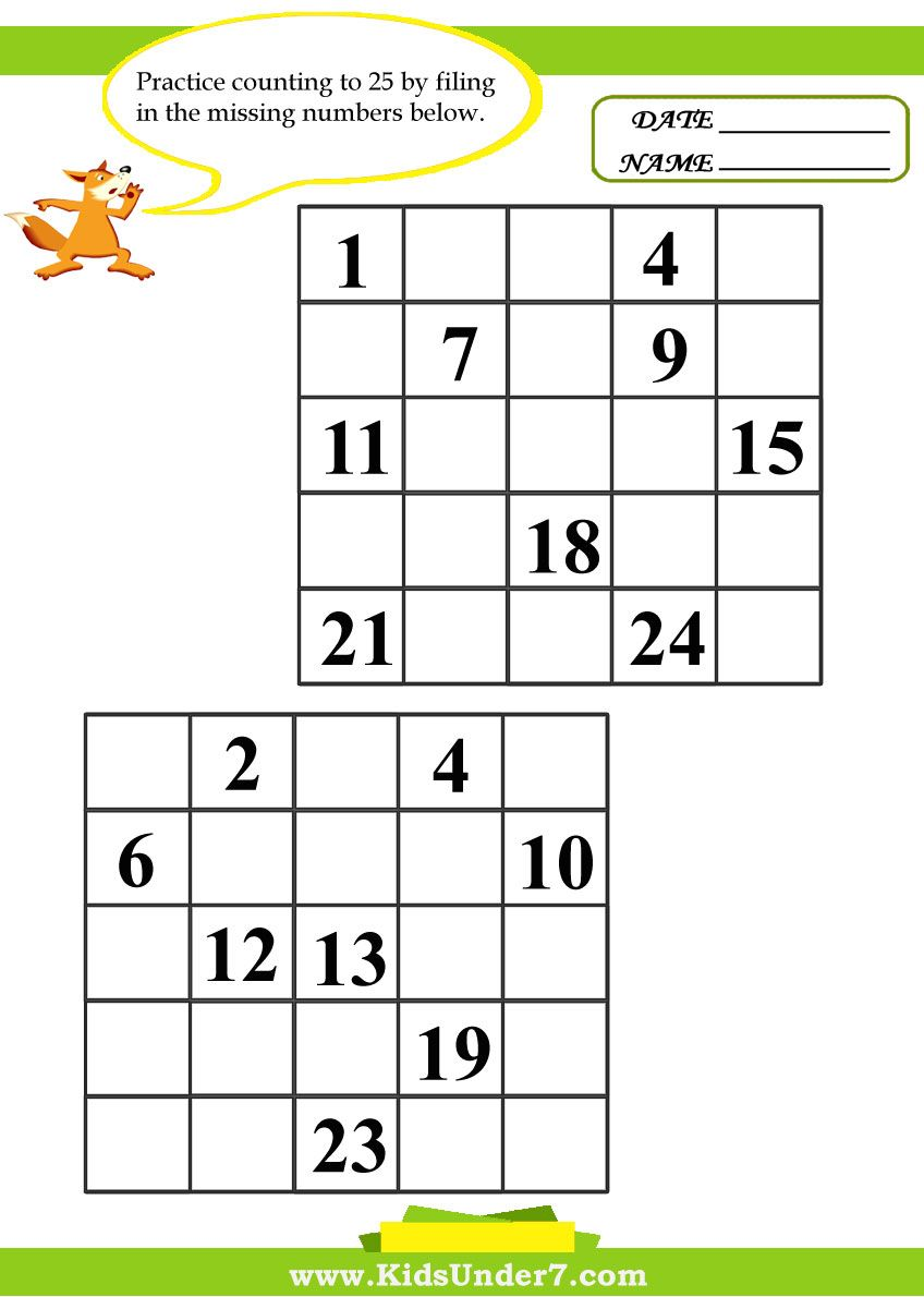Kids Under 7 Fill In The Missing Numbers Worksheets Number Worksheets Preschool Math Worksheets Worksheets [ 1190 x 848 Pixel ]
