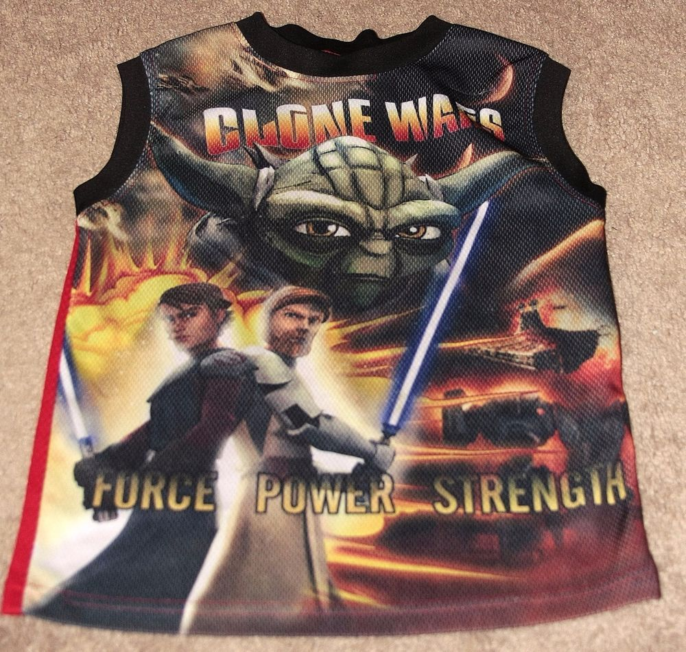Pre-owned Boy's Clone Wars Force, Power, Strength T-shirts by Star Wars Size 6-7 #StarWars #Everyday