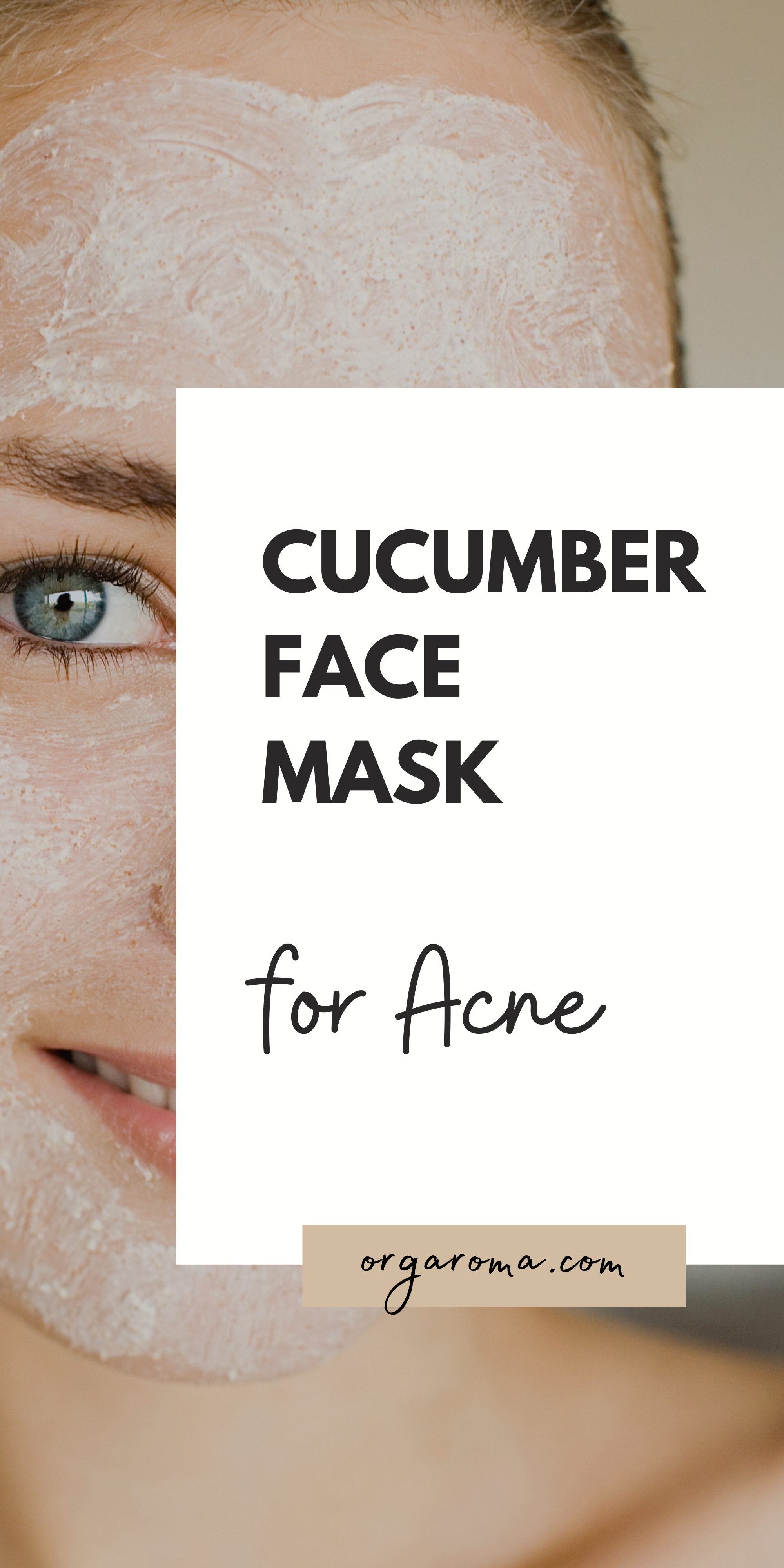 Photo of cucumber face mask acne
