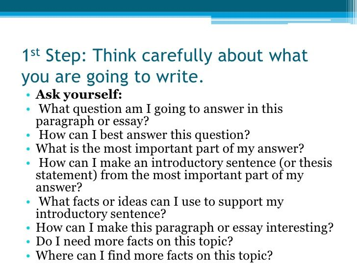 How To Write An Essay Step By - The best estimate connoisseur