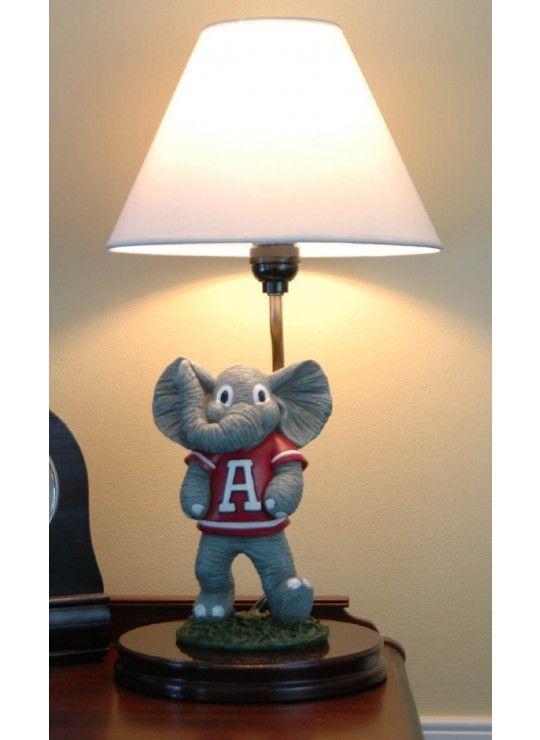 Alabama Quot Big Al Quot Painted Mascot Lamp Mascot Lamps