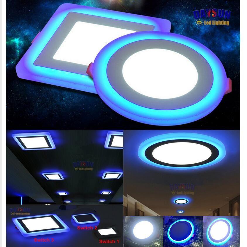Superbright Led Ceiling Light Ultrabright Down Lamp Recessed Led Panel Lamp Ac85 265v 3 Models Dual Color Acrylic Led Ceiling Lights Ceiling Lights Led Panel