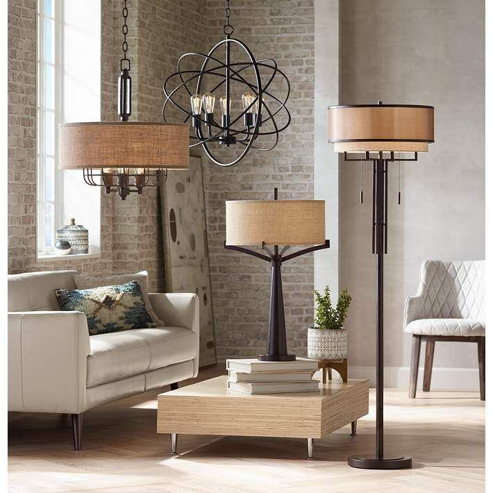 Tremont Industrial Bronze 2 Light Table Lamp 4t410