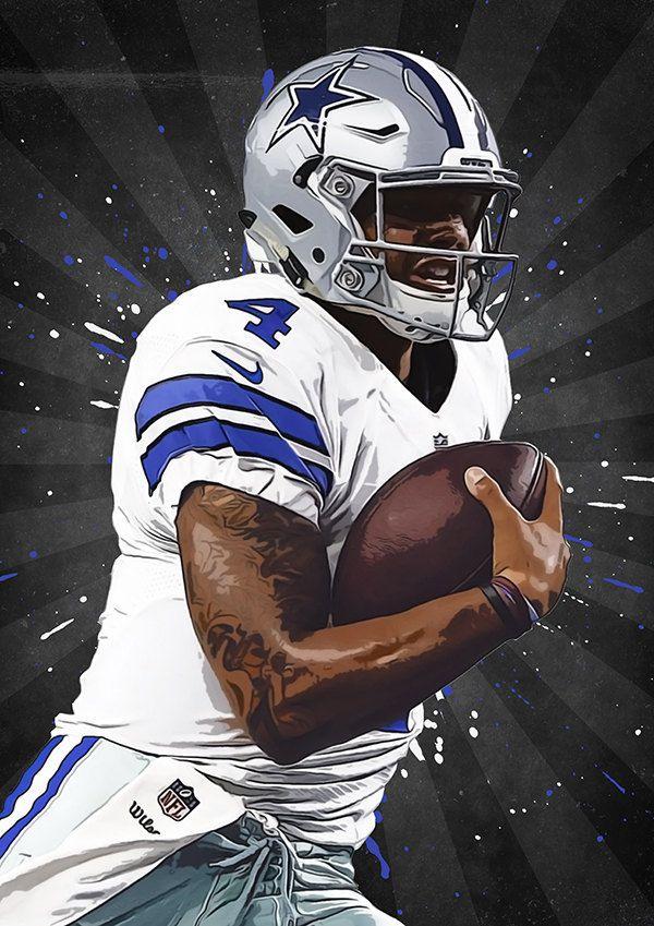 Dak Prescott Dallas Cowboys Nfl Nfl Poster By Troutlifestudio Dak Prescott Dallas Cowboys Dallas Cowboys Football Team Dallas Cowboys