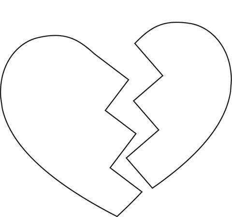 Broken Heart Coloring Page Free Printable Coloring Pages Free Broken Heart Coloring Pages Download Fr Coloring Pages Heart Coloring Pages Love Coloring Pages