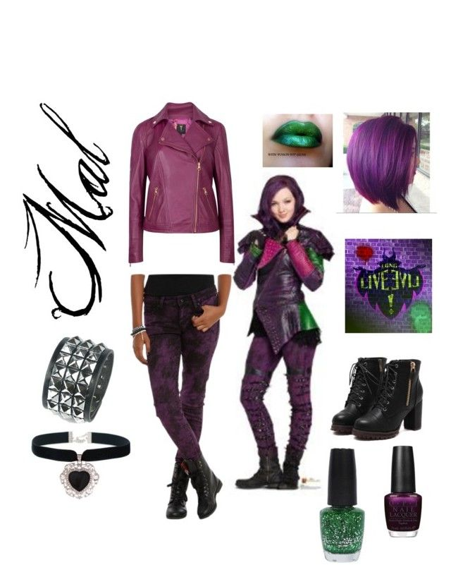 Descendants by amormodaymusica on Polyvore featuring polyvore, fashion, style, Ted Baker, Rock 'N Rose, OPI and Disney