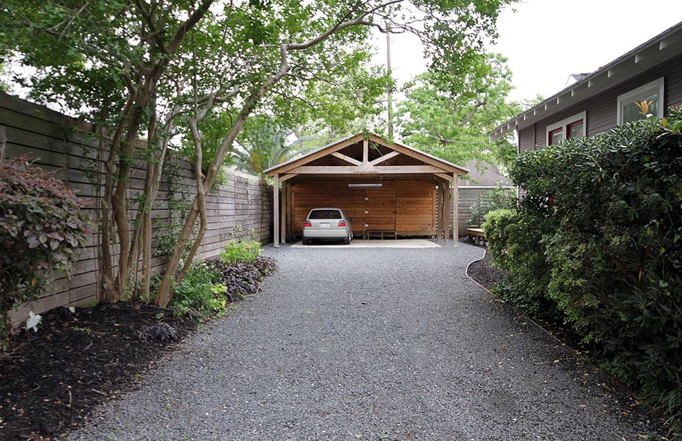 attached carport plans Garage And Shed Traditional with Car Port - fabricant de garage prefabrique