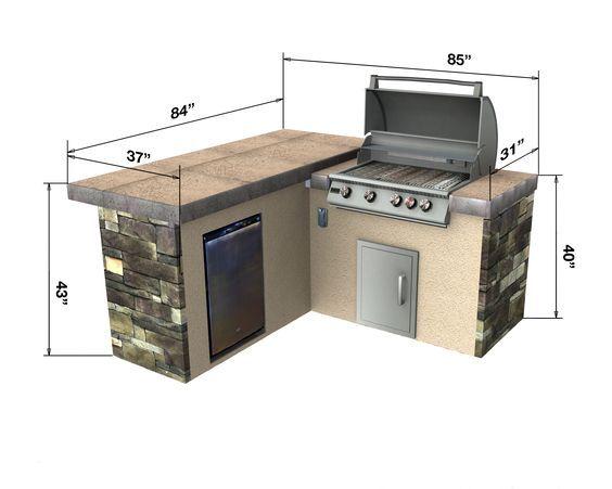 Select Series Backstretch Outdoor Kitchen Island Cocinas Azulejos Aire Libre