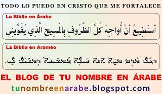 Todo Lo Puedo En Cristo Que Me Fortalece En Arameo Frases