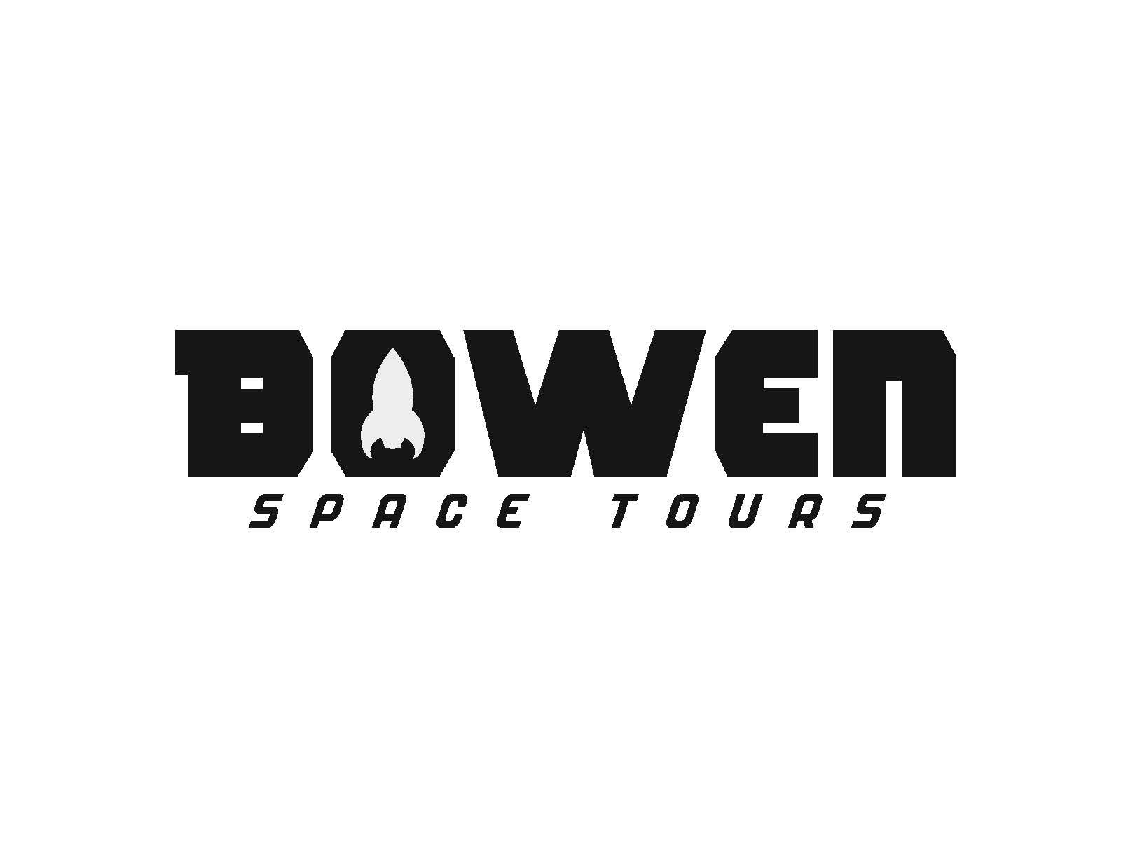 The counterform in this logo creates a space ship which is in relation to the title of the logo.