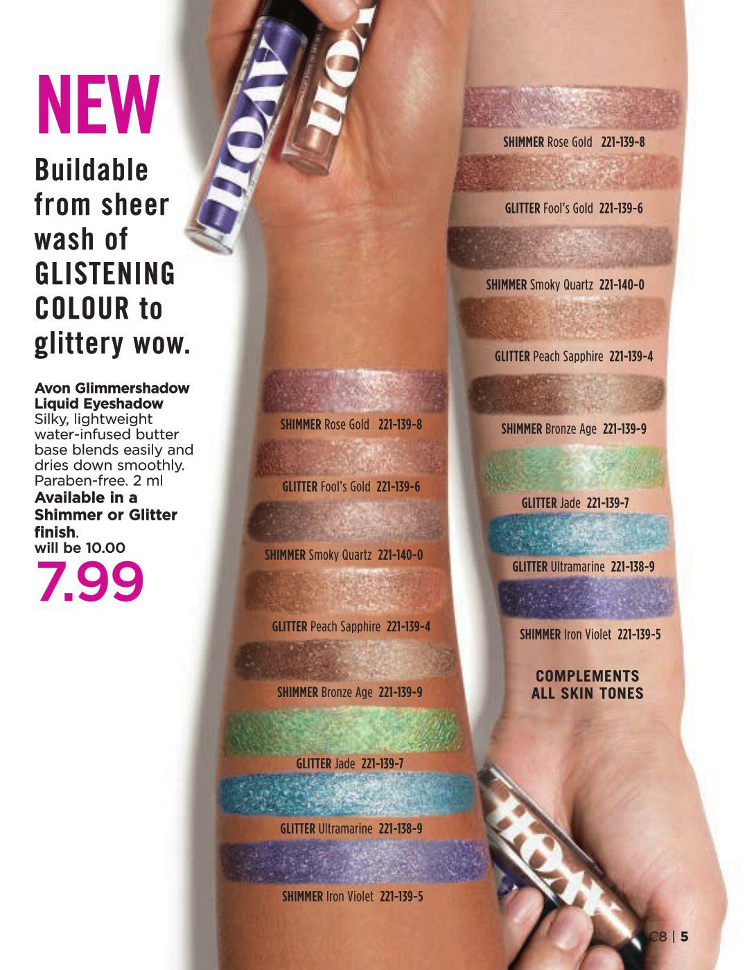 Try our new Glimmer Shadow for only 7.99 in Avon's