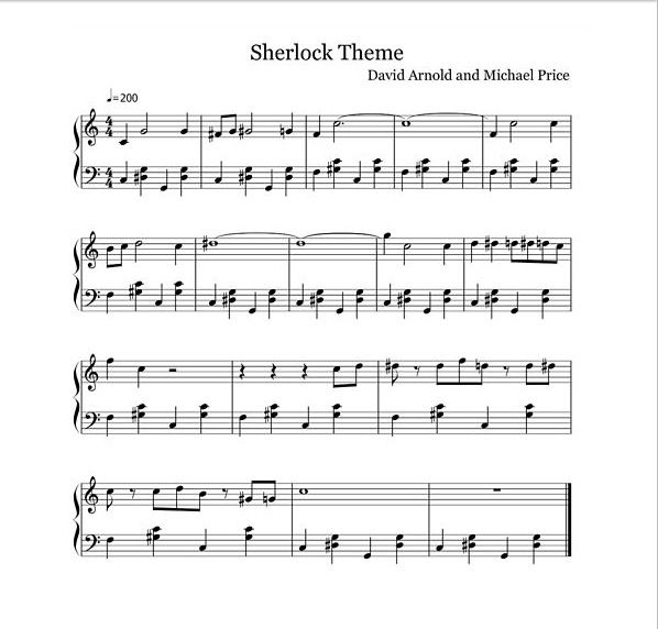 Sherlock Theme Song Excuse Me While I Go Play This Until My