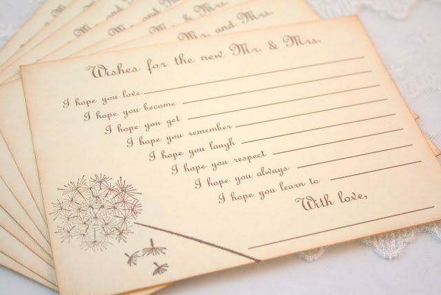 Wedding Wish Cards Fill In The Blank Wishes For Mr And Mrs Guest
