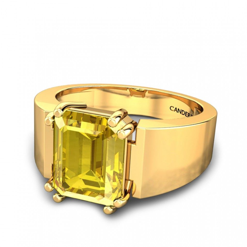 Roman Yellow Sapphire Ring Online Jewellery Shopping India