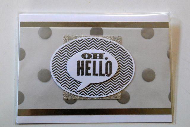 Fancy Foil Designer Vellum, Silver Foil Sheet,  Oh Hello stamp set, Silver Glimmer Paper