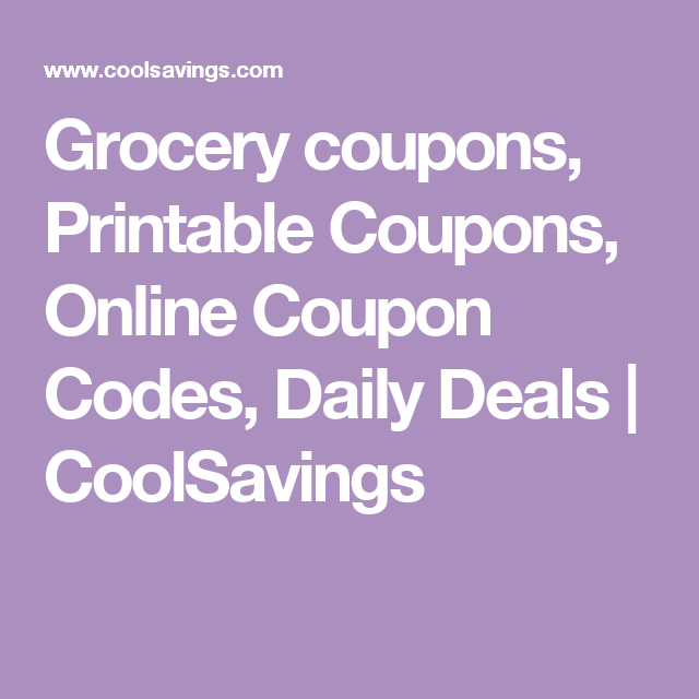 graphic regarding Coolsavings Printable Coupons named Grocery coupon codes, Printable Coupon codes, On the net Coupon Codes