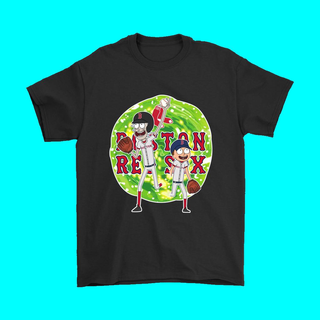 1b579fd0 MLB - 2018 World Series Boston Red Sox Champions Commissioner's Trophy Rick  And Morty Baseball Shirt