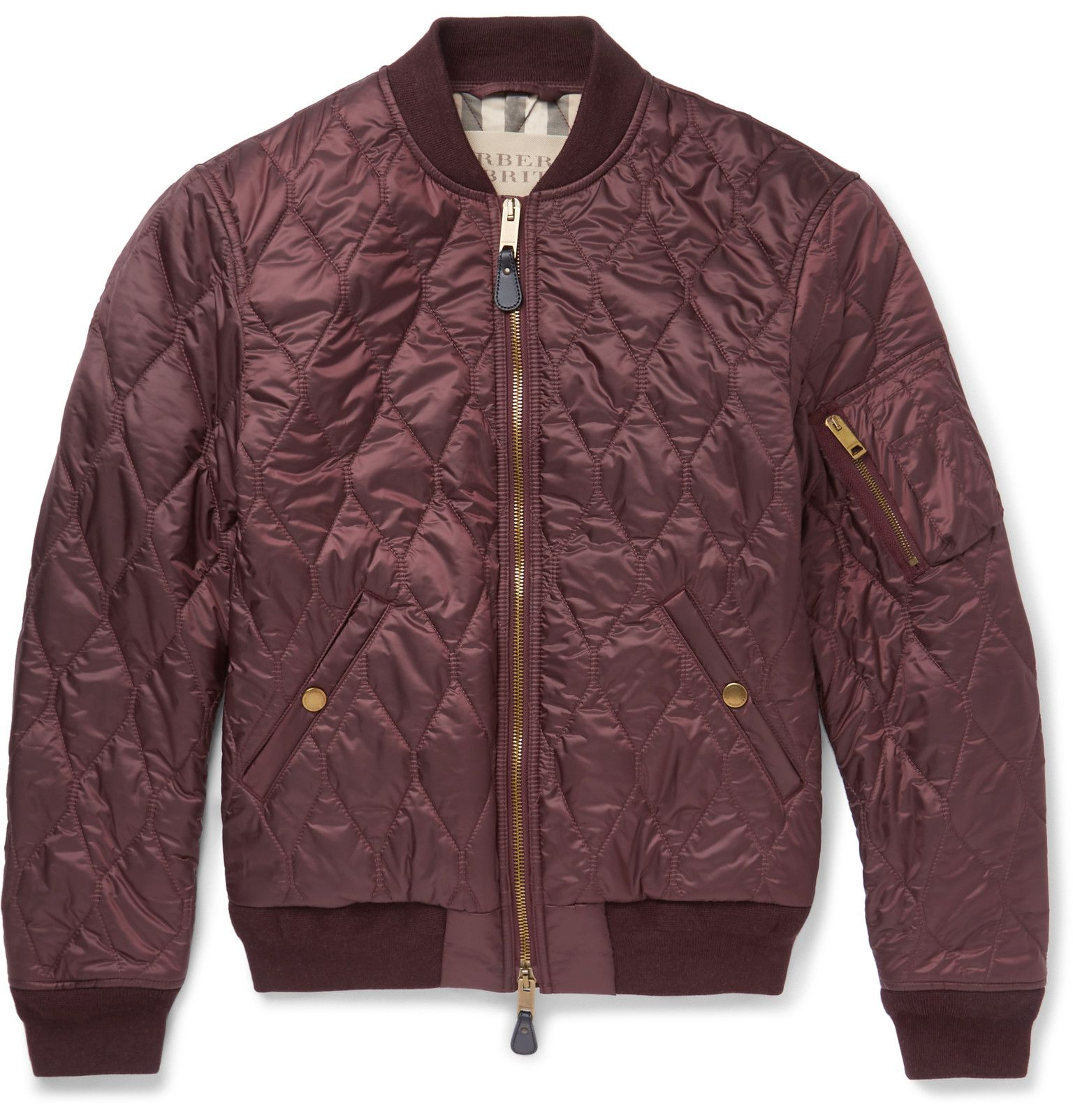 Burberry Brit Quilted Shell Bomber Jacket